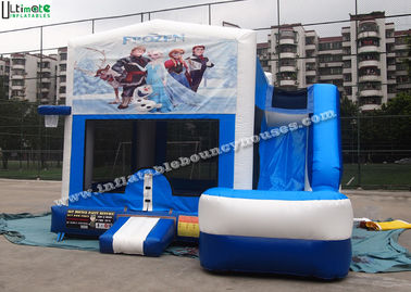 China 6 in 1 Wet And Dry Slide Inflatable Combo With Theme Panels For Children supplier