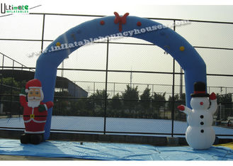 China Commercial Grade Inflatable Christmas Arch for Promotional, Blue / Red supplier