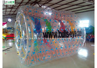 China Funny Kids Inflatable Zorb Balls Clear Water Roller Ball With Colorful Ribbons factory
