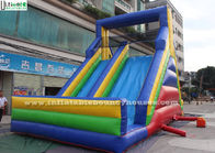 China Red / Yellow / Blue Commercial Inflatable Slides With Multiple Climbing Ways factory