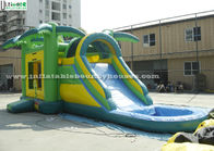 China Big Outdoor Jungle Inflatable Bounce Houses With Water Slide Weight 209 Kg factory