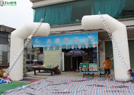 China Outdoor Opening Ceremonies Cycle Inflatable Race Arch Promotion White T Shape factory
