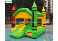China Indoor Mini Crayon Jumping Castles For Adults / Backyard Obstacle Course Fun factory