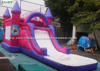 China Children Pink Jump And Slide Inflatables , Pool Slide Frozen Jumping Castles factory