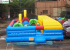 China Indoor Kids Inflatable Bounce Houses Playground With Tunnel Slide factory