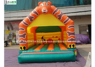 China Lovely Tiger Kids Inflatable Jumping Castles , EN71 Inflatable Bouncy Castles factory