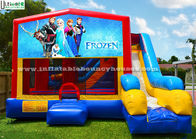 China Colorful 7 In 1 Frozen Inflatable Bouncy House With Slide N Obstacles factory