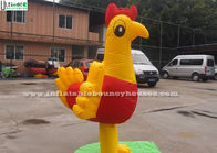 China Lovely Rooster Costume Inflatable Moving Cartoon Big For Promotion factory