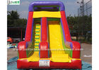 China Rainbow Juegos Commercial Inflatable Slides 0.55mm PVC Tarapulin factory