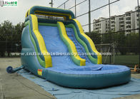 China 17 Feet High Curve Commercial Inflatable Water Slides Funny For Kids factory