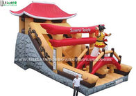 China Giant Samurai Temple Inflatable Castles With Slide Commercial Grade factory
