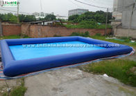 China Squares / Gardens Big Inflatable Baby Pool , Blue Heat Welding Inflatable Family Pool factory