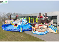 China Amazing Shark And Pirate Inflatable Water Park With Big Pool factory