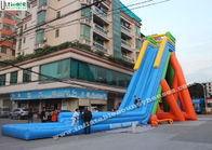 China 12m High Inflatable Pool Water Slides Outdoor Garden Water Slides For Parties factory