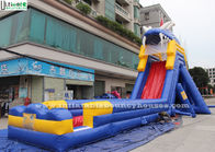 China Giant Hippo Commercial Inflatable Water Slides With Pool For Water Park Equipments factory