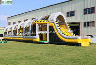 China 24m Long Adult Inflatable Obstacle Course / Bounce House for Interactive Challenge factory