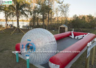 China Crazy Fun Inflatable Human Bowling Race Track With Zorb Ball factory