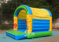China 5x4 mts outdoor Let's party kids inflatable bouncy castle made with 610g/m2 pvc tarpaulin company