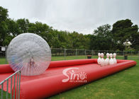 China New design giant inflatable human bowling ball game with big zorb ball and race track company