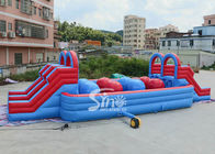 Outdoor Double Lane Adults Wipeout Inflatable Big Baller For Inflatable Assault Course From Sino Inflatables