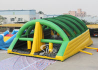 15x8m Giant Adults Inflatable Obstacle Course With Slide For Challenge Run In Mud Run Events