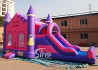 China 4in1 pink kids party inflatable princess bounce house with slide from Guangzhou Inflatable factory company