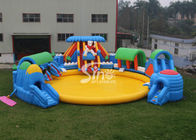 China Custom Design Giant Inflatable Water Park Above Ground With Big Pool For Kids N Adults company