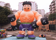 5m High Anytime Fitness Inflatable Muscle Man For GYM Outdoor Advertising N Promotions
