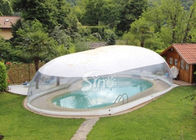 China Outdoor custom size transparent inflatable pool dome with covered ceiling company