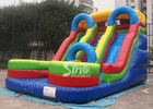 5mts high big double lane inflatable slide with arch made of 0.55mm pvc tarpaulin