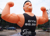 China Advertising removable GYM inflatable muscle man for fitness promotion activities company