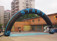Custom Black and Blue Inflatable Start and Finish Line Arch for Outdoor Activities