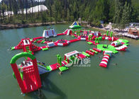 China 35x30m Giant Floating Island Inflatable Floating Water Park with 0.9mm Pvc Tarpaulin factory