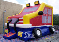 Custom made outdoor kids truck inflatable bounce house made of lead free pvc tarpaulin from China inflatable factory