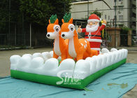 China Outside Christmas Inflatables Jingle Bells / Father And Reindeers Running Together company