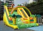 Outdoor Giant Tropical Rain Forest Inflatable Slide For Adults And Kids