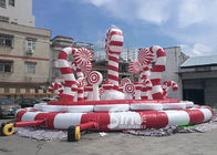 Giant Christmas Candy Cane Inflatable Amusement Park Bouncer For Kids And Adults Party Fun