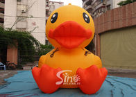 3m High Giant Inflatable Yellow Duck For Advertising On Ground For Outdoor Promotion