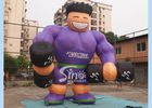 Purple Shirt Advertising Inflatables Muscle Man Commercial Grade for promotion used