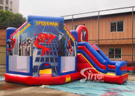 6x5m kids spiderman inflatable jumping castle with slide for sale price from Sino Inflatables