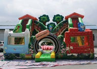 China Jungle theme kids backyard inflatable amusement park with digital printing for outdoor fun company