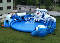 China Snow N ice world giant inflatable water park on land with big inflatable pool for kids N adults company