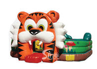 Pop commercial kids tiger inflatable game for outdoor use
