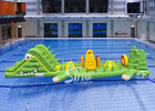 Custom Alligator Inflatable Water Toys Aqua Game For Children In Swimming Pool