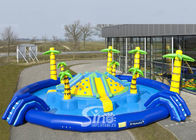 15m dia. tropic sea beach giant kids N adults inflatable water park with hill slide in center