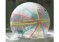 Colorful strips PVC inflatable water hamster ball for walking on water ball fun