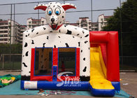 Outdoor N indoor spotted dog inflatable bounce house with slide for family yard parties