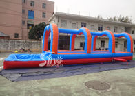 Outdoor Kids And Adults double Inflatable Water Slip And Slide with pool 20m Long