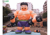 Good Quality Inflatable Bounce Houses & Anytime Fitness Inflatable Muscle Man Advertising Products For Outdoor Promotions on sale