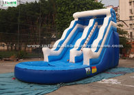 Good Quality Inflatable Bounce Houses & 18 FT High Wavy Commercial Inflatable Water Slides For Kids With Sea World Theme on sale